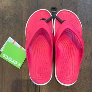 Crocs Citilane Raspberry/White Relaxed Flip Flops